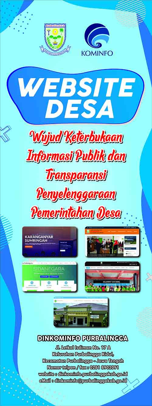 banner website desa untuk ki